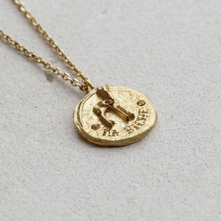 """Necklace """"Ma biche"""" in gold plated : Jewelry color GOLD"""