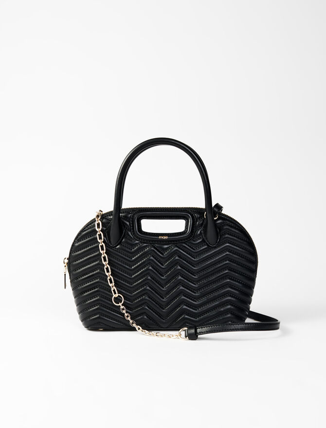 Quilted leather handbag - All the collection - MAJE