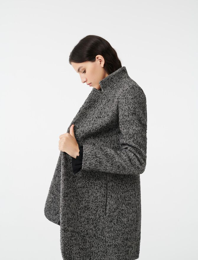 Herringbone coat - LastchanceUK_40 - MAJE