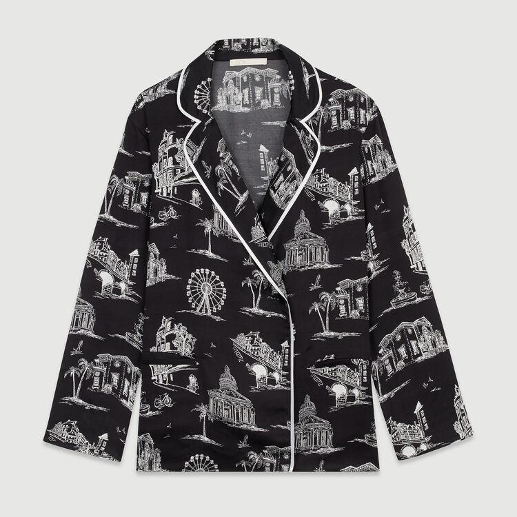 Shirt with Paris print : Tops & Shirts color Black