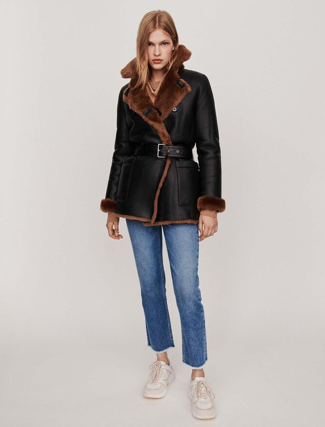 Canadian-style reversible shearling -  - MAJE