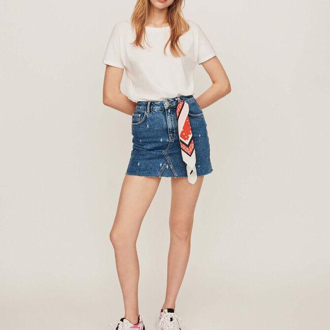 Faded straight-cut jean skirt - staff private sale 1220 - MAJE
