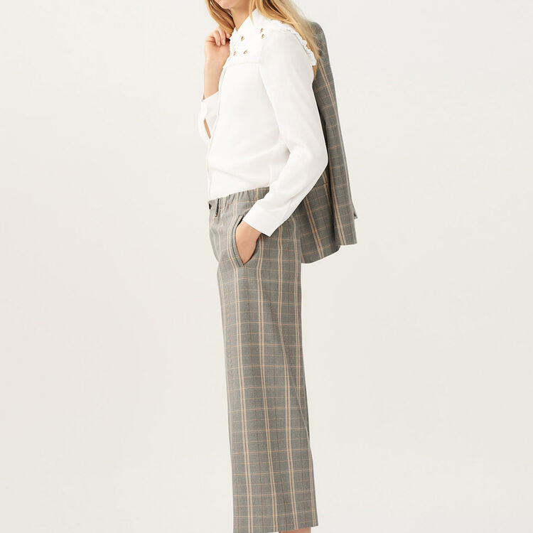 Wide checkered pants : staff private sale color CARREAUX