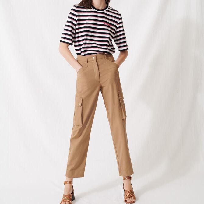 Camel cotton trousers - staff private sale 1220 - MAJE