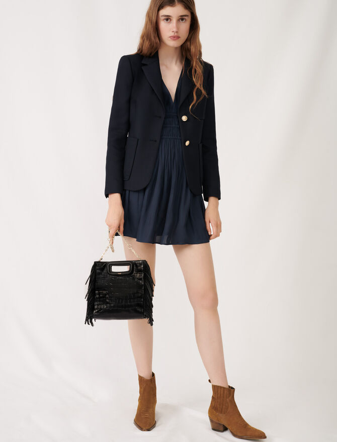 College-style suit jacket - Eco-friendly - MAJE