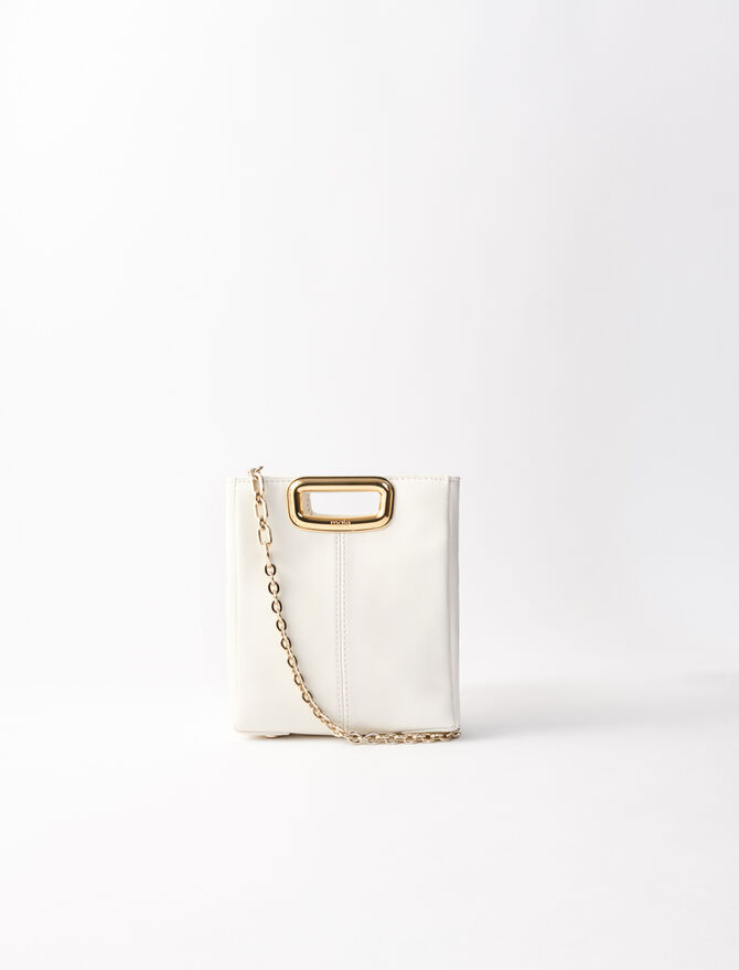 Mini leather and goldtone M Skin bag - M Mini - MAJE