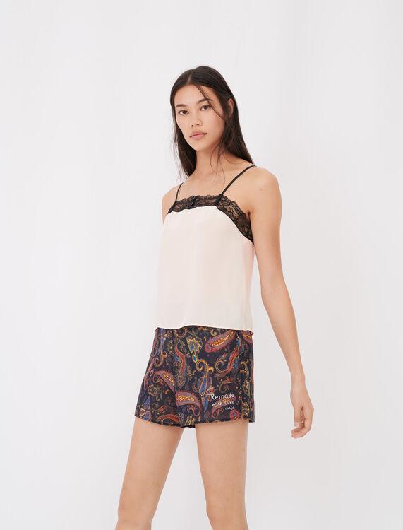 Print pyjamas with lace kit - Eco-friendly - MAJE