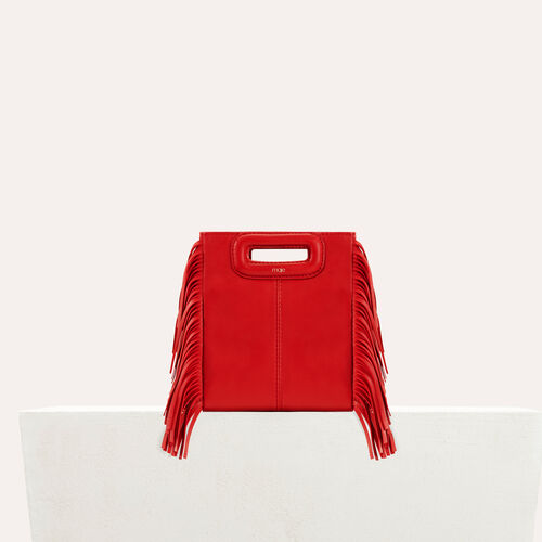 Fringed suede M minibag : New in color RED
