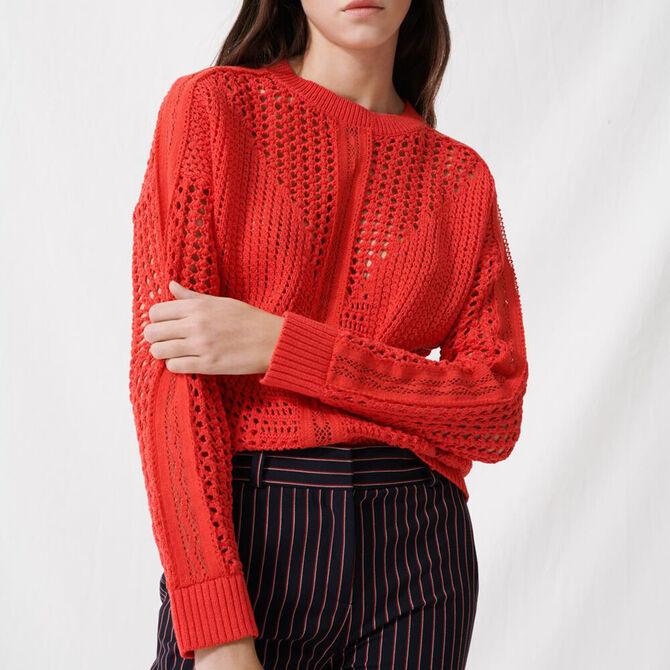 Crochet-style jumper - staff private sale 1220 - MAJE