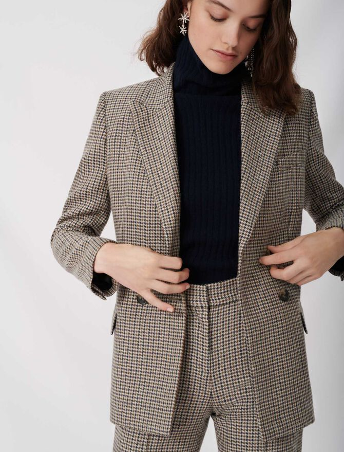 Checked suit jacket - Blazers - MAJE