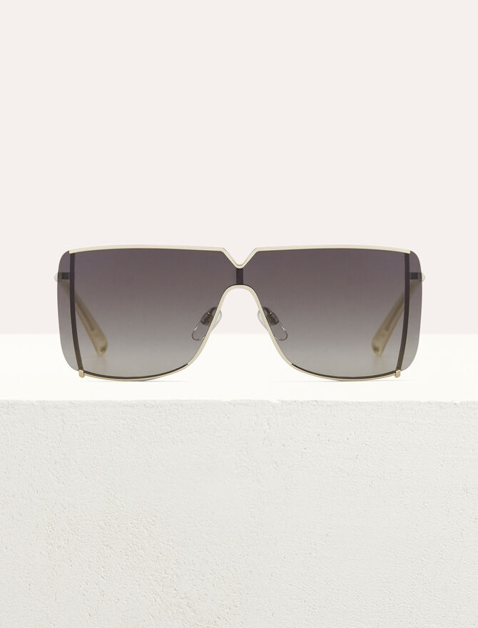 Lunettes de soleil Masque en métal - Eyewear - MAJE