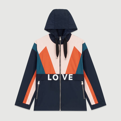 Multicolored windproof jacket : Coats & Jackets color Navy