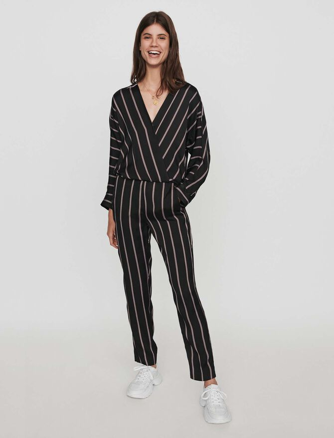 Jumpsuit with racing stripes -  - MAJE