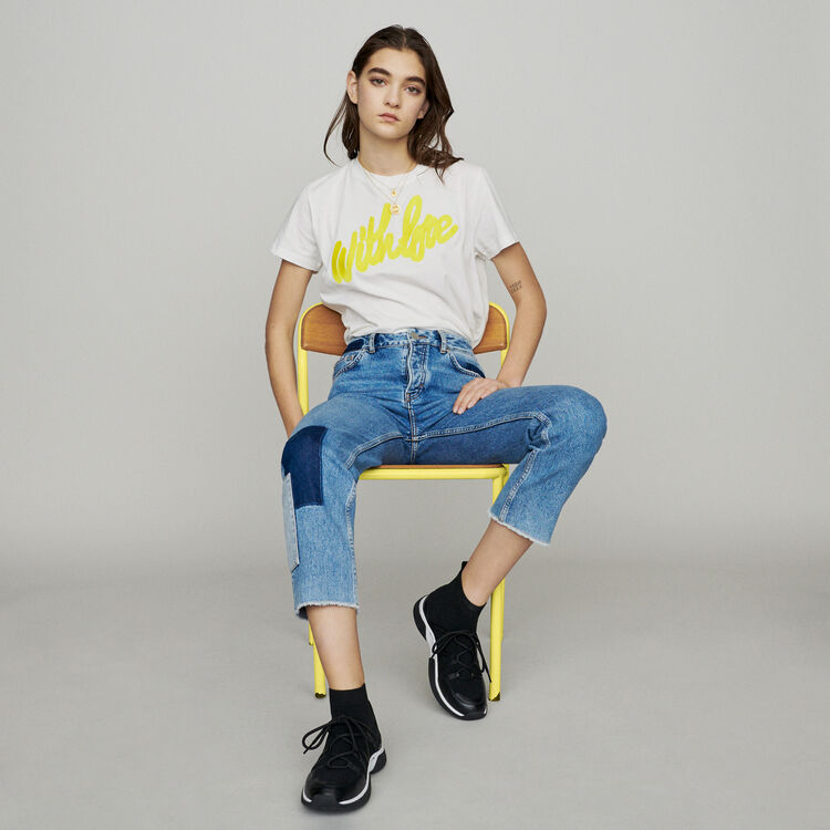 Straight-leg jeans with pieces : New in : Summer Collection color Blue