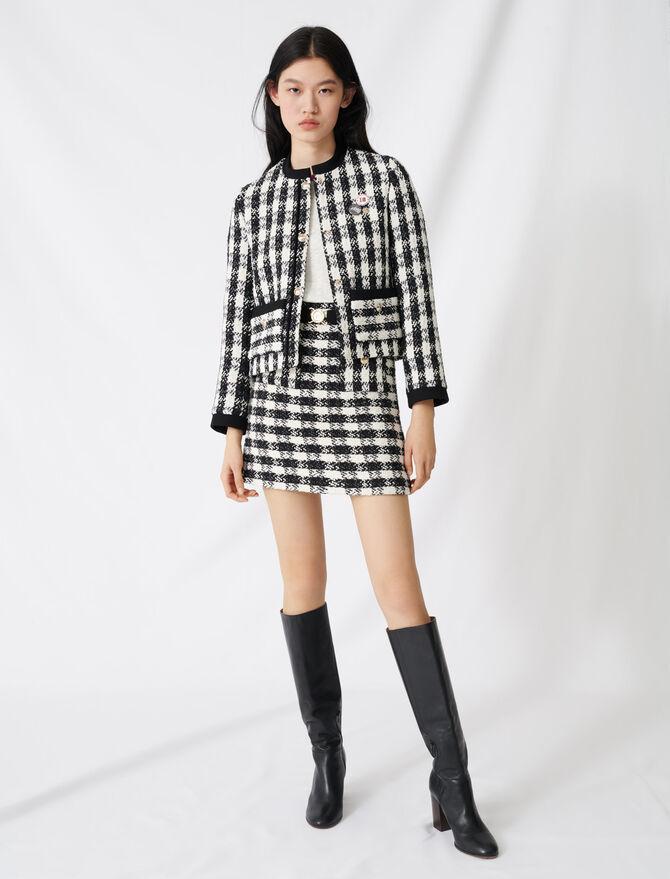 Tweed-style cropped jacket - Blazers - MAJE