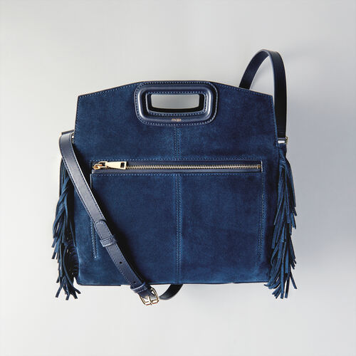 Suede M Walk bag : Totes & M Walk color Navy