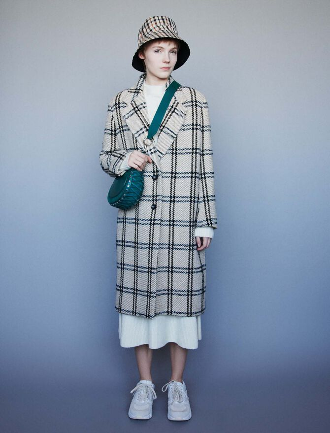 Long plaid coat - Jackets & Blazers - MAJE