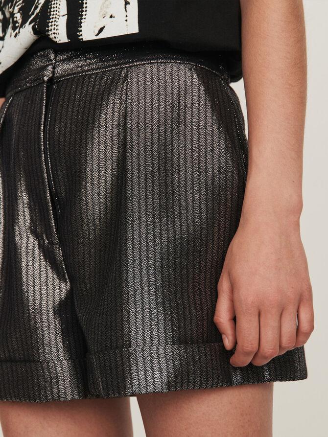 Cuffed shorts in Lurex - SoldesBE_50 - MAJE