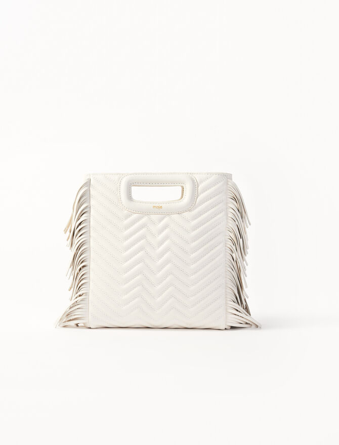 White quilted leather M bag -  - MAJE