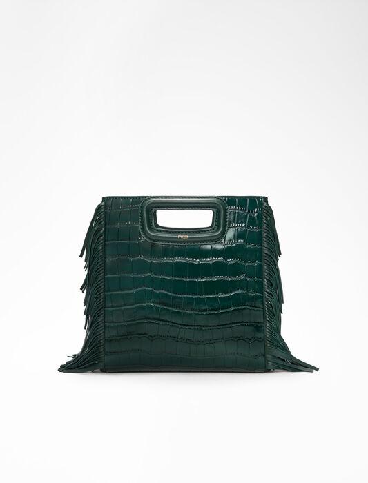 Crocodile embossed-leather M bag : LastchanceIT_20 color Dark green