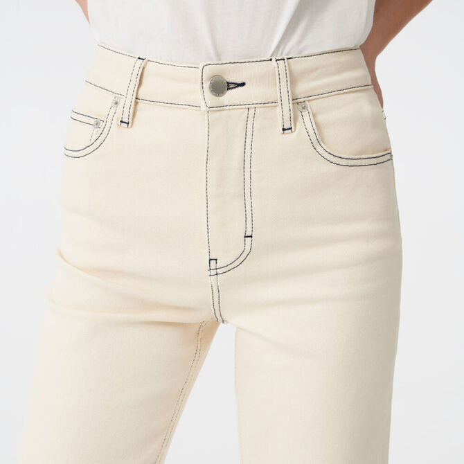 Straight leg jeans with topstitching - staff private sale 1220 - MAJE