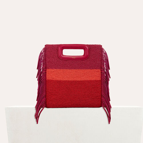 Sheepskin M bag with beads : staff private sale color Raspberry
