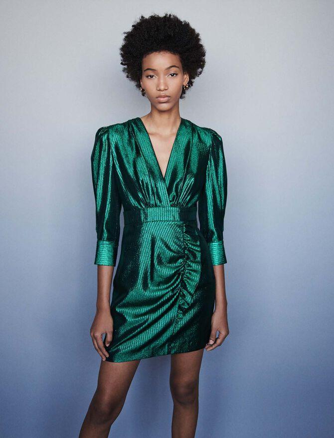 Draped Lurex dress - -30% - MAJE