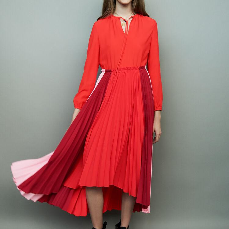 Pleated multicolor shirt dress : staff private sale color Multico