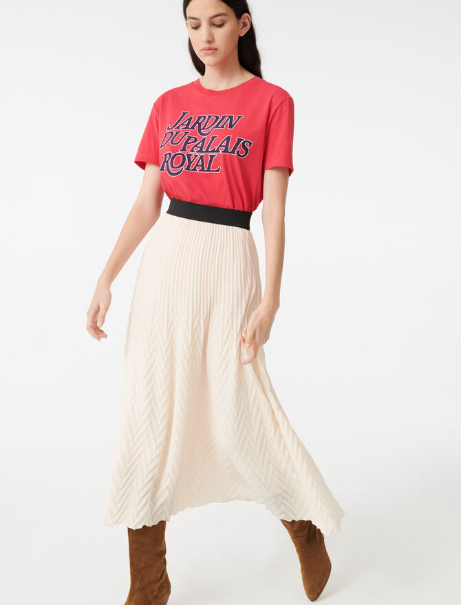 Geometric pleated skirt -  - MAJE