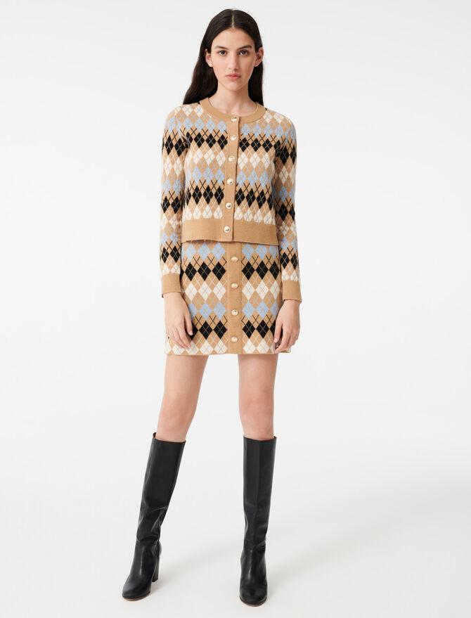 Short jacquard cardigan - Pullovers & Cardigans - MAJE