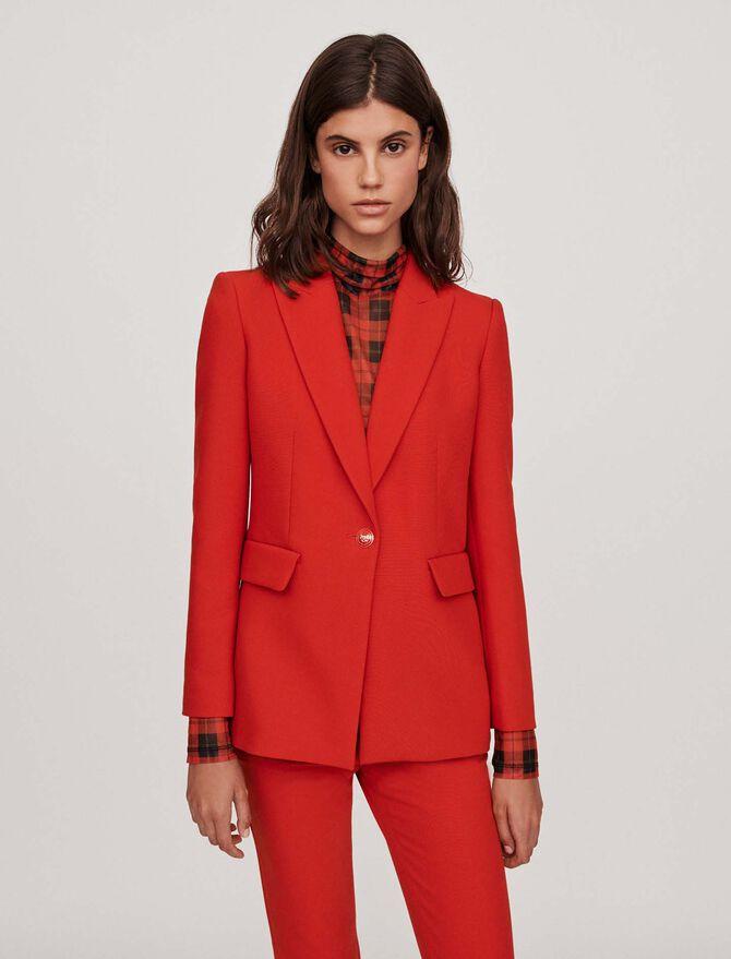 Cinched waist jacket -  - MAJE