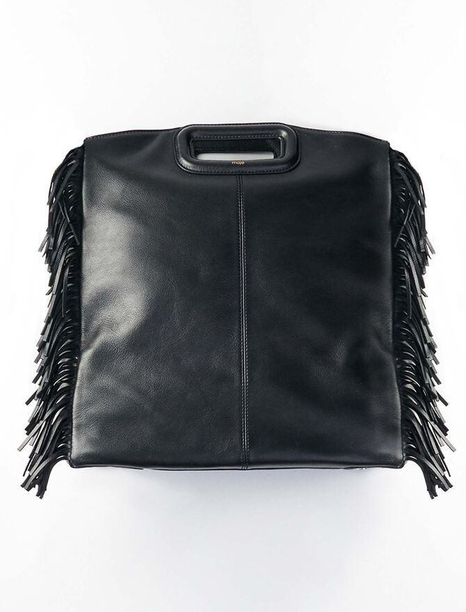 Leather M tote bag - Totes & M Walk - MAJE