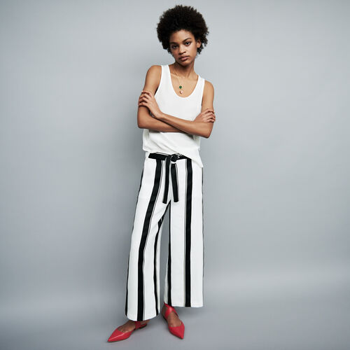 Oversized striped pants : staff private sale color Stripe