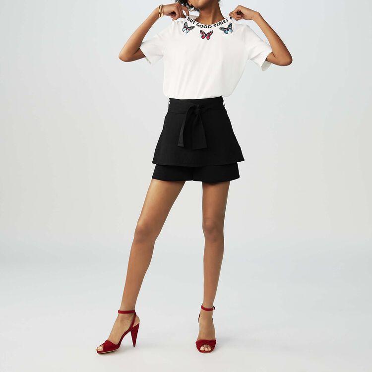 Embroidered cotton T-shirt : staff private sale color White