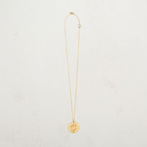 Pisces zodiac sign necklace : Collection color GOLD