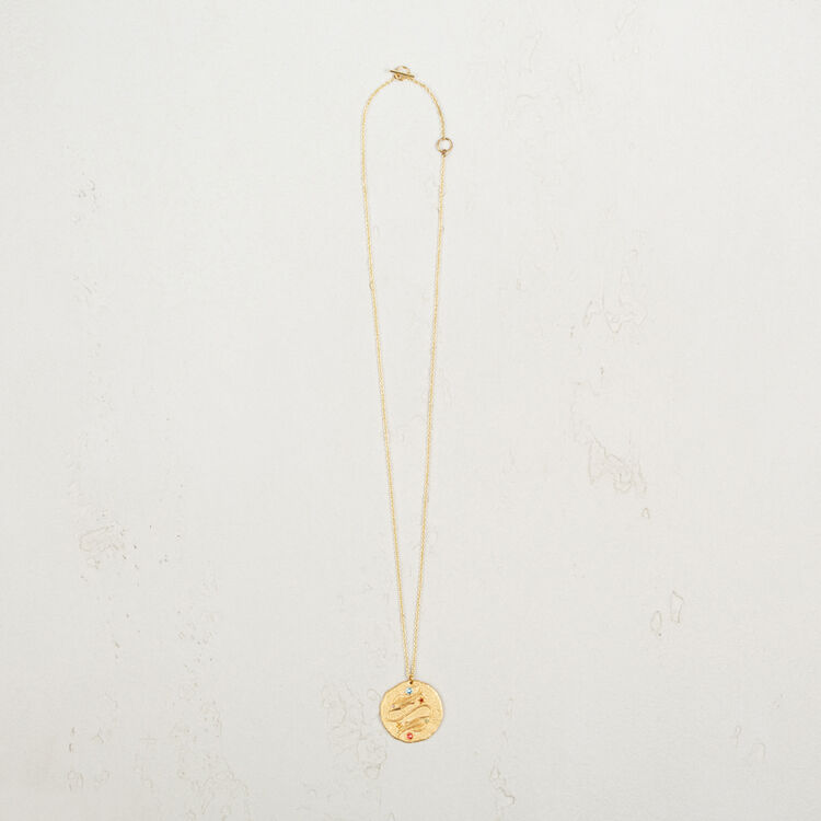 Pisces zodiac sign necklace : Party Wear color GOLD