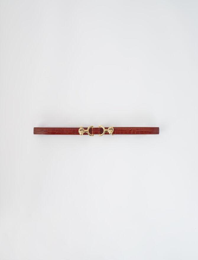 Croc-effect leather and horsebit belt - Emily's story - MAJE