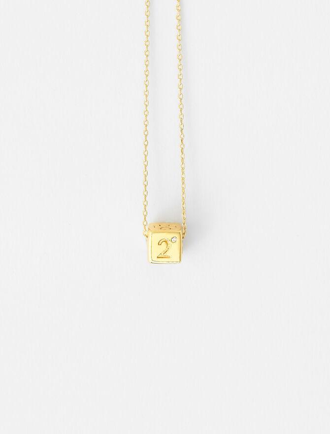 Number 2 dice necklace -  - MAJE