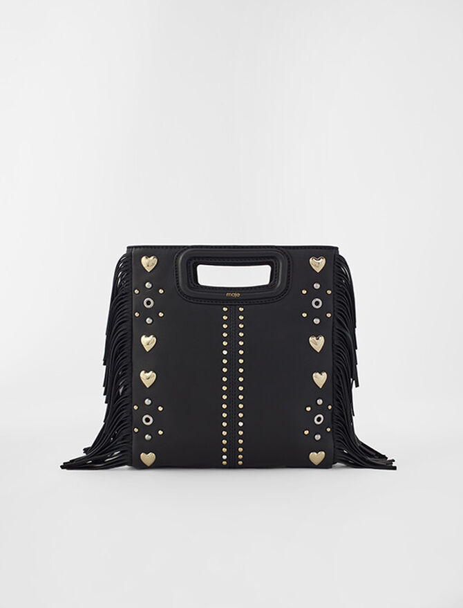 M leather bag with heart studs - See all - MAJE