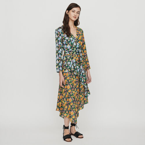 Long dress in floral print : Dresses color PRINTED