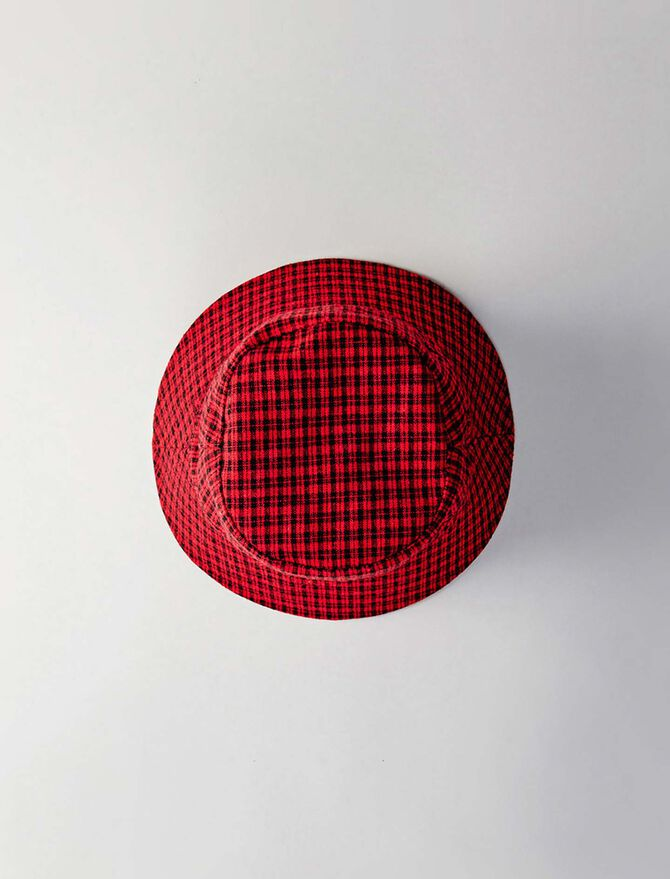 Reversible cotton bob with tweed pattern - Hats and bobs - MAJE