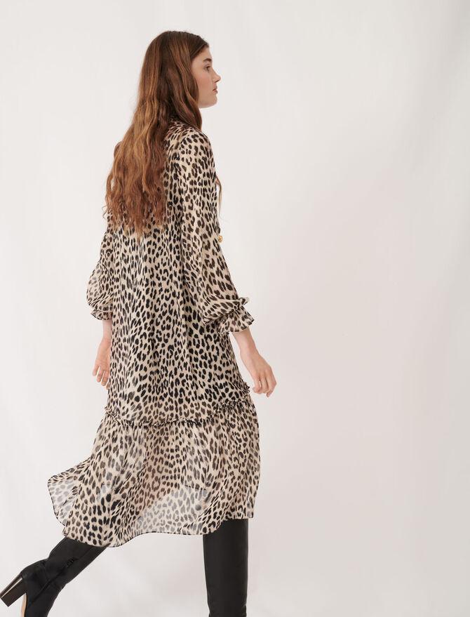 Printed muslin dress with jewels - Eco-friendly - MAJE