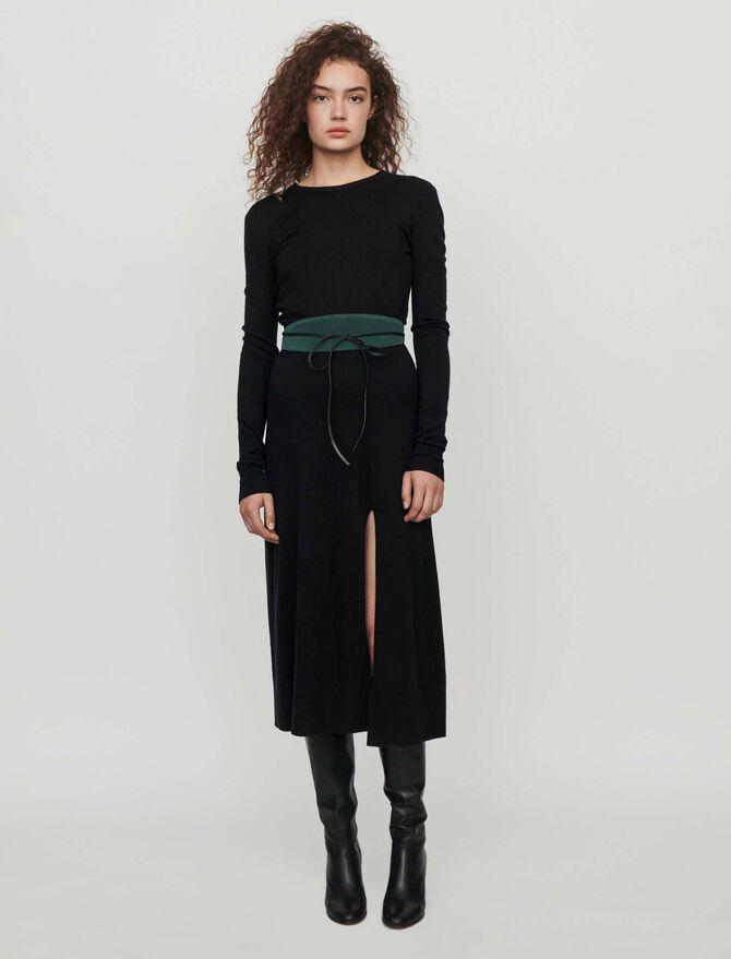 Split and reversible knit dress - -30% - MAJE
