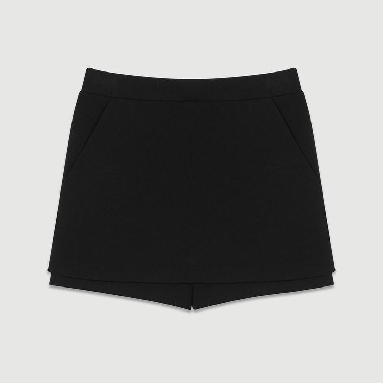 Crepe skort : staff private sale color Black 210