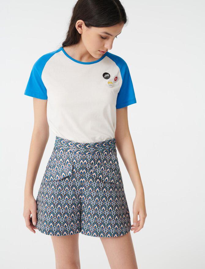 Lurex jacquard shorts -  - MAJE