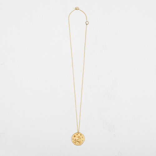 Capricorn zodiac sign necklace : Collection color GOLD
