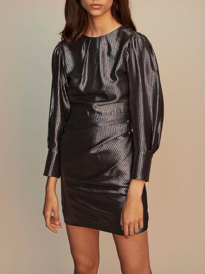 Yoke dress in Lurex - Dresses - MAJE