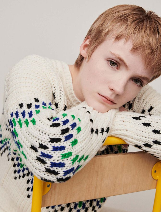 Sweater with fancy motifs - Pullovers & Cardigans - MAJE