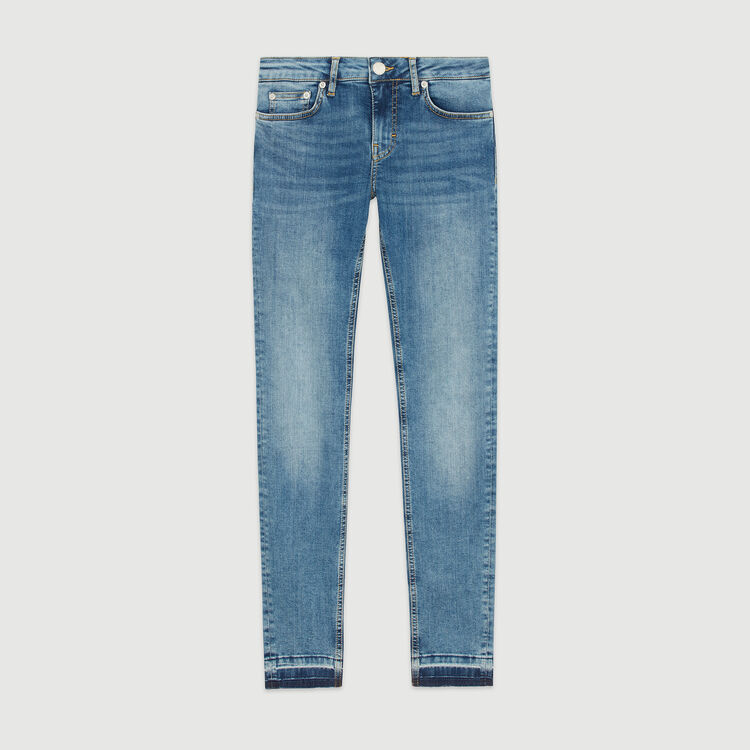 Slim jeans in stretch cotton : Trousers & Jeans color Denim