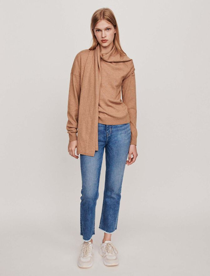 Knotted crewneck sweater - SoldesFR_ALL - MAJE